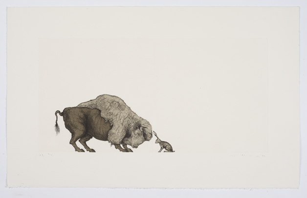 Self Portrait (Bison and Hare)